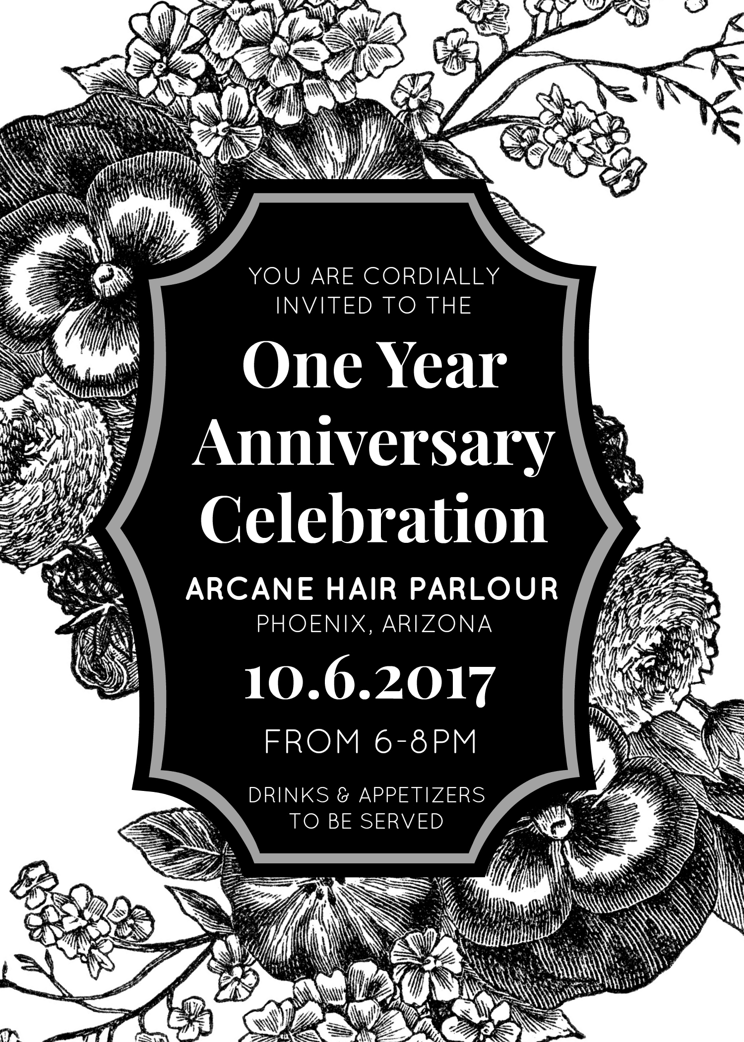 One year anniversary arcane hair parlour downtown phoenix as a thank you for supporting arcane during our first year of business we invite you to celebrate with us at our anniversary stopboris Image collections